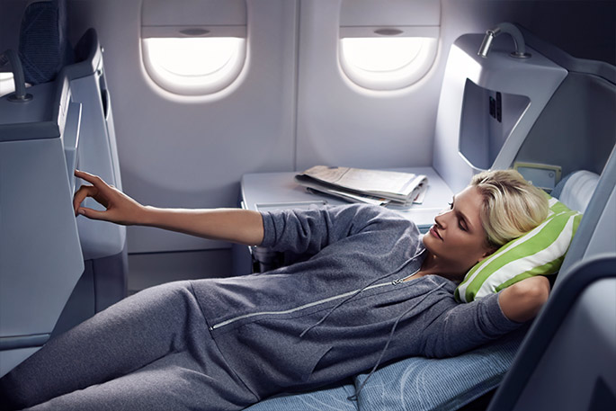 Finnair flat bed